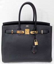 d372cf805b4 Hermes Birkin 35cm Midnight Ocean Blue Clemence GHW Bag