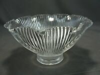 """Antique HOLOPHANE Prismatic Glass Pagoda Shade 5 1/2""""W X 3 1/4""""H X 1 5/8"""" Fitter"""