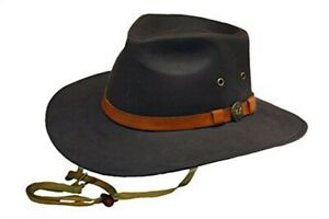 Outback Trading Co. Mens Western Kodiak Oilskin Cotton Cowboy Hat UPF 50 Brown