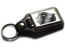 TOYOTA YARIS Hatch Back Car Koolart Leather and Chrome Keyring
