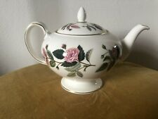 More details for wedgwood hathaway rose pattern teapot