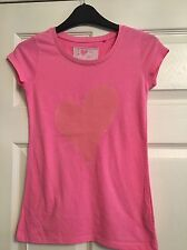 NEXT GIRLS PINK T SHIRT AGE 10YRS GOOD USED CONDITION