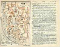 Vichy 1912 pt. plan ville orig. + guide (8 p.)