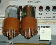 TUBES 2 Sylvania 5932 factory matched Gm-Ip 6L6G pair brown micanol LOT2