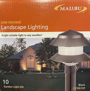 Malibu Low Voltage Landscape Lighting LX50610P 10 Light Garden Light Kit