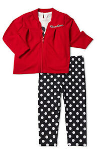 Minnie Mouse Baby Girls French Terry Jacket, Jersey Tee and Legging, 3pc Set