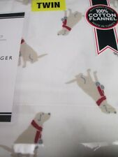 Tommy Hilfiger Labrador Retriever Dog Flannel Sheet Set - Twin