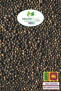 Ceylon Black Pepper Whole Seeds - 100% Organic Natural & High Premium Quality