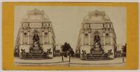 Fontana Saint-Michel Parigi Francia Foto Stereo L6n58 Vintage Albumina c1870