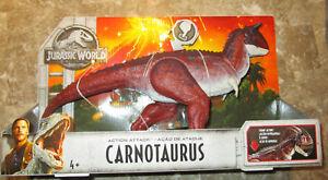 Jurassic World 2 ACTION ATTACK CARNOTAURUS FIGURE DINOSAUR CHOMPING ACTION 2018