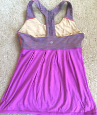 LULULEMON POWER DANCE TANK TOP Wee are from Space w Heathered Violet size 4 EUC