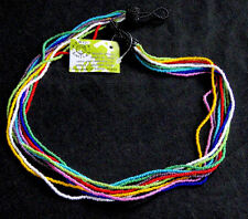 Rainbow Collana ETNICO TRIBALE AFRICANA Zulu con Perline Multi Strand gioielli luminosi