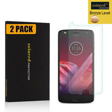 [2-Pack] SOINEED Tempered Glass Screen Protector Saver For Motorola Moto Z2 Play