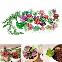 Fake Lotus Cactus Artificial Succulents Plants Floral Garden Patio Home Decor