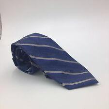 $95 CLUB ROOM Men BEIGE BLUE WHITE STRIPED NECK TIE CASUAL DRESS NECKTIE 59x3.25