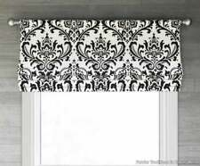 "NEW Custom Faux Roman Shade 50""W x 20"" L, Black and White damask valance"