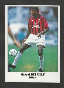 FIGURINA CALCIATORI SERVICE LINE STARS PARADE EUROCUPS 1994-95 MILAN DESAILLY