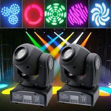 2PCS 30W Stage Lighting Spot GOBO RGBW LED Moving Head DMX Disco DJ Party Lights