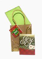 Punch Studio 66651 Gold Foil And  Gem Embellished Notepad Holy Joy Christmas