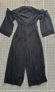 💜 BOOHOO Summer Cocktail Off Shoulder Jumpsuit Black Size 10 Buy7=FreePost L889