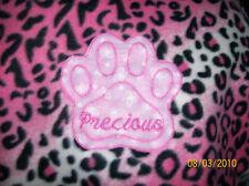 Pet Dog Cat Fleece Blanket Personalized Handcraft 20x30 in sm dark pink leopard