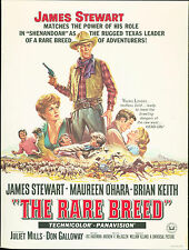 The Rare Breed (1966) James Stewart, Maureen O'Hara, Brian Keith  ad card