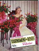 Tournament Of Roses Pasadena Rose Bowl Parade Review 1952 VGEX 081716jhe