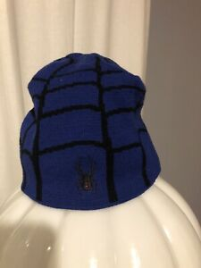 Spyder Blue Beanie Hat One Size