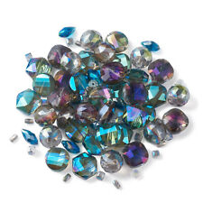 1Set Electroplate Glass Loose Beads Mixed Shape For DIY Jewelry Making Crafts
