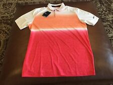 Nike Golf men's  white/orange/red  dri-fit polo shirt, size M, NWT, MSRP$80.00