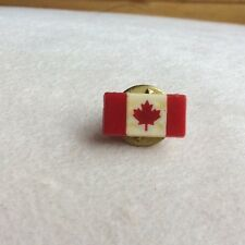 Vintage Canadian Mini Flag Lapel Pin Tie Clip Tack ALERT PROD Canada Maple Leaf