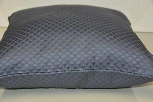 NEW Frette  Luxury Illusione SILK Mineral Blue Decorative Pillow with CASE EURO