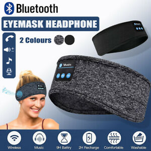 Wireless Bluetooth 5.0 Stereo Eye Mask Headphones Earphone Sleep Music Mask AU
