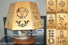 Handarbeit: Tischleuchte 7eckig aus Sperrholz mit versch. Motiven