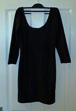 FOREVER 21 3/4 manica Scoop Back Mini Dress-nero-Taglia M