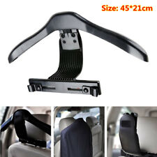 Black Universal Car Seat Headrest Jacket Coat Suit Clothes Hanger Holder 45*21cm