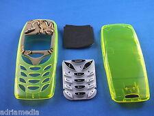FRONT COVER POSTERIORE tastiera Nokia 3310 3330 chassis Custodia Cellulare Trasparente Nuovo