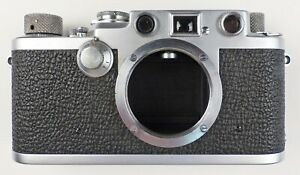 "FURTHER REDUCED -- Beautiful 1953 Leica IIIf ""red dial"" rangefinder camera"