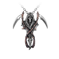 Los brazos de Reaper Colgante-ALCHEMY GOTHIC Grim Reaper/Calavera joyas P296
