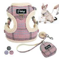 Cat Walking Jacket Harness&Leads&Treat Bag Set Escape Proof Pet Puppy Dog Vest