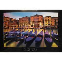 "VENEZIA - VENICE GRAND CANAL - GONDOLAS 91 x 61 MM 36 x 24"" ART POSTER x"