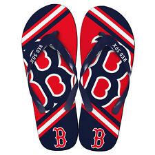 MLB Boston Red Sox Flip Flops Thong Sandals Beach Navy Blue Sports Womens