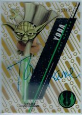 2016 STAR WARS HIGH TEK AUTOGRAPHS GOLD RAINBOW TOM KANE AS YODA #33/50