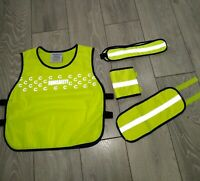 Equisafety High Viz Pack - Tabard Vest + Horse Leg Bands + Hat Band - Yellow