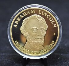 Abraham Lincoln 16th President Proof Dollar Trial Commemorative Coin [06DU]
