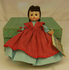"1966 Madame Alexander Kins LITTLE WOMEN JO #781 BENT KNEE 8"" Wendy Doll MIB"