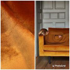 NEW Designer Made In Belgium Upholstery Velvet Fabric- Burnt Orange