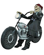 Screamstore Sensenmann Rocker Skelett auf Motorrad Halloween Animatronic XXL