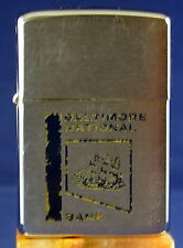 Vintage Zippo Lighter Baltimore National Bank w/engraved Sailboat  circa 1961