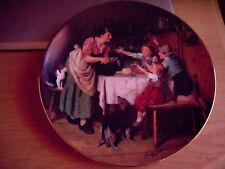 Porzellan Sammelteller Adolf Eberle Die Vesperpause 1994 Reichenbach limitiert